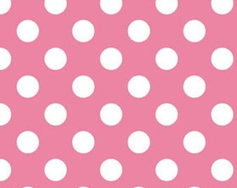 Medium Dots in HOT PINK  c360-70  - Riley Blake Designs Fabric  - 1 Yard