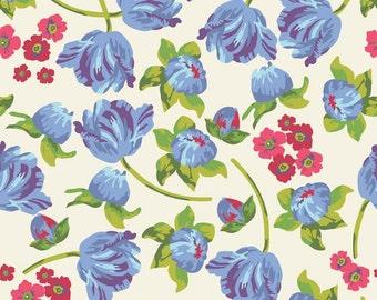 Floribella Main in Cream  c4320 - FLORIBELLA by Emily Taylor - Riley Blake Designs Fabric  - By the Yard