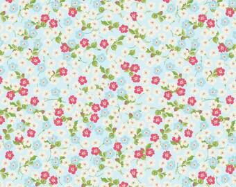 Floribella Floral in Blue c4322 - FLORIBELLA by Emily Taylor - Riley Blake Designs Fabric  - By the Yard