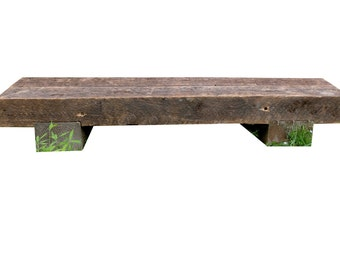 Salvaged Rafter Wood Bench or Bedside Table- pick up only new york 10516