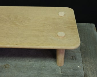 Handmade Oak mortise and tenon stool / low table / bench