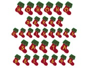 In-The-Hoop Christmas 1 Banner * Alphabet * Machine Applique Embroidery - Instant Digital Download