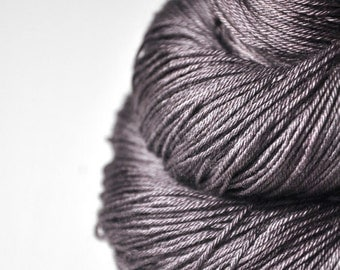 Fading black walnut wood -  Merino/Silk Fingering Yarn Superwash