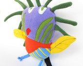 Custom made plush doll from your kid's artwork Drawing to stuffed toy Bird softie - MADE TO ORDER