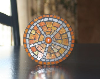 Mosaic orange votive