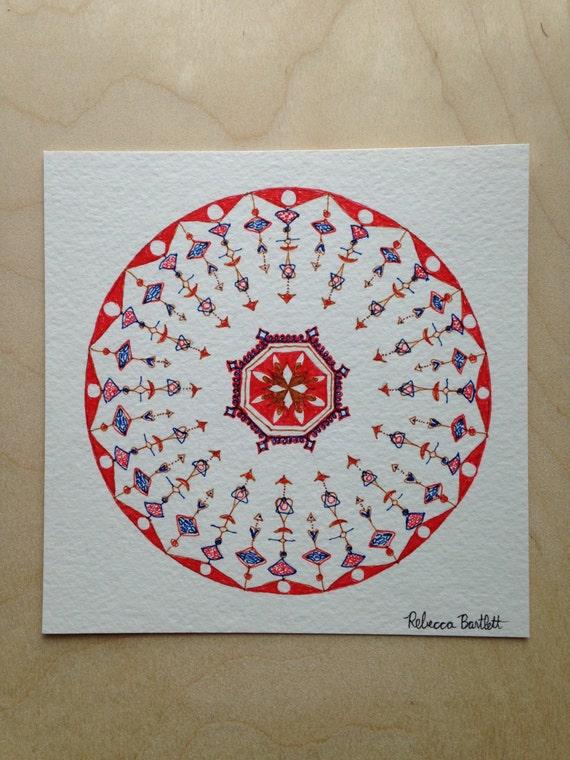 Istanbul Circles - original drawing -