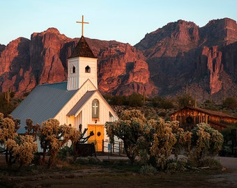 Church At The Superstition Mountains Arizona