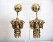 Vintage CORO Earrings Filigree Dangle Chandelier