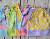SAMPLE SALE girls pillowcase dress size 18 month ONLY you pick color