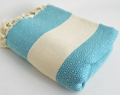 Shipping with FedEx - Diamond - Sofa throw, Bedcover, Beach blanket, Traditional, Tablecloth