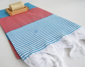 SALE 50% OFF Bathstyle Turkish BATH Towel Peshtemal - GReen - Blue - Beach, Spa, Swim, Pool Towels and Pareo