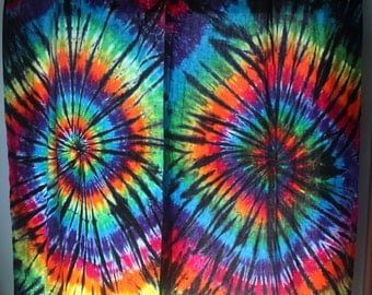 Tie Dye Curtain Panel | Custom Colors