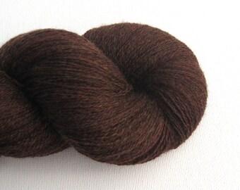 Lace Weight Merino Wool Recycled Yarn, Mahogany, 910 Yards, Lot 111114