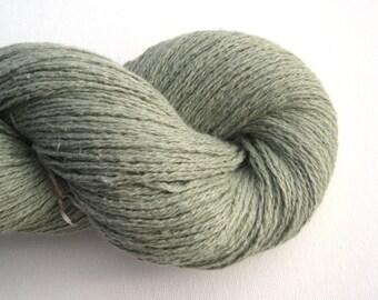 Silk Angora Blend Recycled Yarn, Sport Weight, Silvery Sage Green, 290 yards, Lot 080115