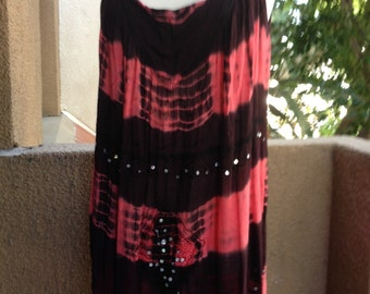 OPEN SIZE, Bohemian Hippie Tie Dyed Embroidered Top/Short Dress