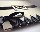 Ivory & Black Photo Album, Boudoir Album, Anniversary Album, Personalized Photo Album - Custom Colors Available