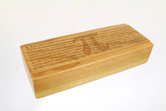 Pi Box - Medium Depth - Laser Engraved Box, Pill/Medication Box, Vitamin Organizer, V10, Paul Szewc