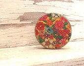 Floral Rouge Metal Tin Vintage Makeup