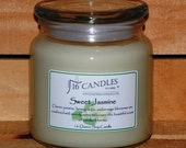 Sweet Jasmine Candle ~ 16 Ounce Jar ~ Scented Soy Candle ~ Floral Scent ~ 16 Candles by J.P. Lawrence