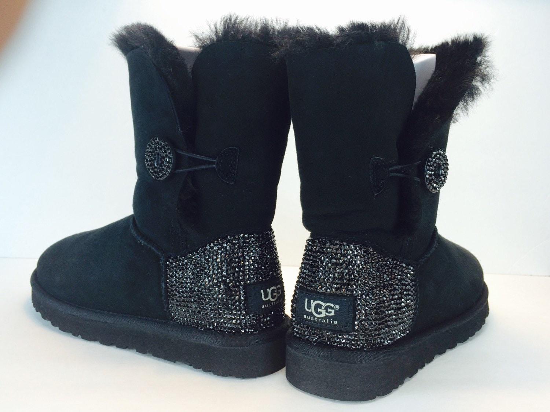 custom bailey buttom ugg boots made with swarovski crystals