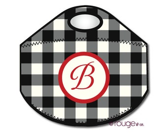 CHECK monogrammed lunch tote - with customizable pattern and monogram