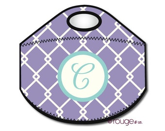 LINKED monogrammed lunch tote - with customizable pattern and monogram
