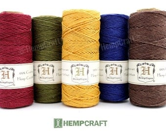 Hemp Twine, Earthy Jeweltone, Bulk 5 Spools, Jewelry Making Hemp Crafting Cord