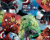 Marvel Avengers Character Patch Cotton Fabric by Springs Creative, 1 yard