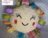 Sunny Face Ribbon Taggie Pillow