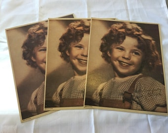 Vintage Prints of Shirley Temple