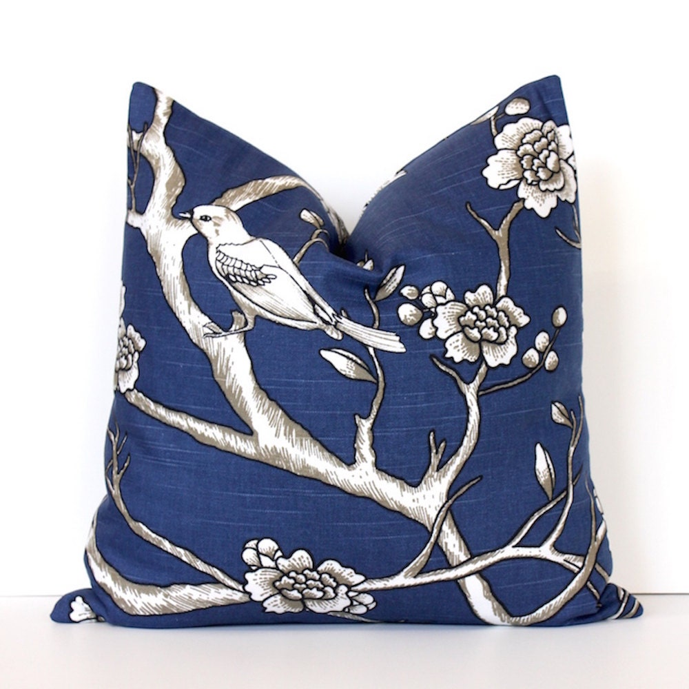 Modern Midnight Blue Decorative Designer Pillow Cover Accent