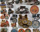 Huge Estate Sale Lot of Vintage Tin Toy Kitchen Playthings