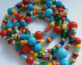 Color Bomb-African Christmas Beads-Bracelet