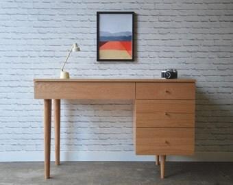 April Desk - Solid Oak - Mid Century Modern Inspired