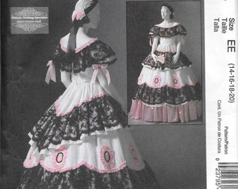 McCall's 4744 Historic Gone With The Wind Civil War Dress Costume Pattern Size 14 16 18 20