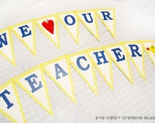 BANNER -  Teacher Appreciation - Teacher Banner - We LOVE Our Teachers & Staff - Teacher Appreciation Party -  Back to School - Teacher Gift