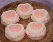 STRAWBERRY CHEESECAKE Scented Large Valentine's Be Mine Sugar Cookie Wax Tarts Melts Bowl Fillers Decor- HIGHLY Scented
