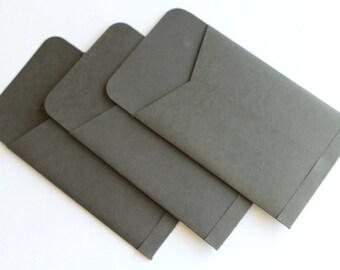 Gift Card Sized Envelopes - Set of 3 - Black Noir Night Holidays Christmas Stocking Stuffer