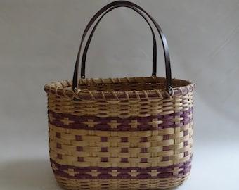 Shopper's Tote-Basket / Handwoven Basket
