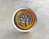 yellow kitchen decor, decorative drawer pull, cabinet knob, tree of life, cabinet pull, drawer handle, dresser knob, cabinet hardware