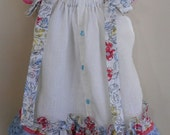 Hand Made Pillow Slip Dress Size 3T Upcycled Linen