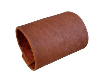 Wide Leather cuff ,  Acorn brown  , Soft leather cuff , Tan leather cuff, Cuffs for women, Ladies leather cuff,  Brown leather cuff, Tattoo