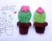 Succulentes brooch in felt