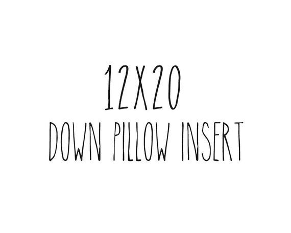 """12"""" x 20"""" Pillow Insert Form Down Feather Fill Lumbar"""