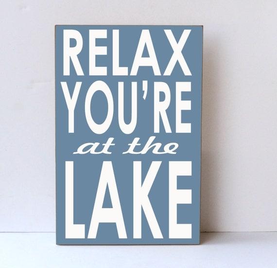 Lake Signs Wall Decor : Relax at lake wood sign decor wall house
