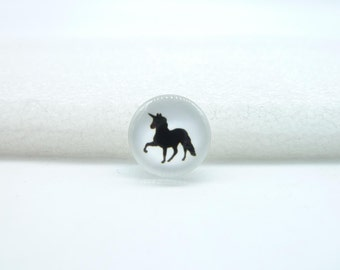 10pcs 12mm Handmade Photo Glass Cabochons (Unicorn  horse)  GB77-25