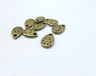 100pcs 7x10mm Antique Bronze Mini Recycling recycle arrows Charm Pendant c8004