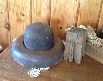 Antique Wood Hat Molds Millinery Form Block Set Primitive 1800's Super Rare