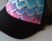 VIxen mermaid hand painted hat