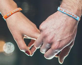 My Cookie & My Pumpkin friendship bracelet set